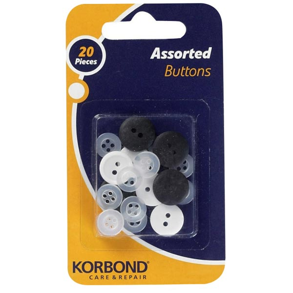 Korbond Assorted Buttons | Pack of 20