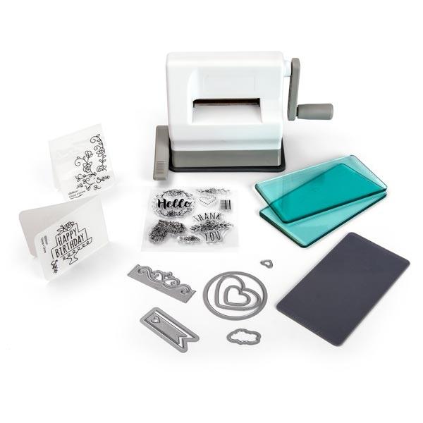 Sizzix Sidekick Die Cutting Machine Starter Kit | White & Grey