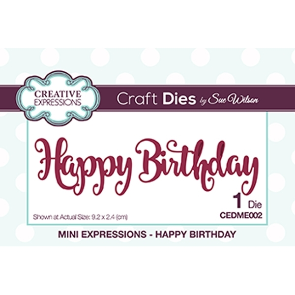 Creative Expressions Craft Dies By Sue Wilson-Mini Expressions-With Sympathy